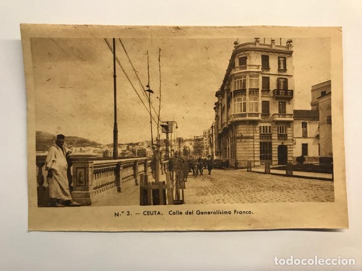 CEUTA. POSTAL NO.3, CALLE DEL GENERALISIMO FRANCO. EDIC., M. ARRIBAS (H.1940?) S/C (Postales - España - Ceuta Moderna (desde 1940))