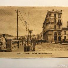 Postales: CEUTA. POSTAL NO.3, CALLE DEL GENERALISIMO FRANCO. EDIC., M. ARRIBAS (H.1940?) S/C. Lote 276752893