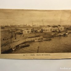 Postales: CEUTA. POSTAL NO.7, MUELLE DEL COMERCIO. EDIC., M. ARRIBAS (H.1940?) S/C. Lote 276753613