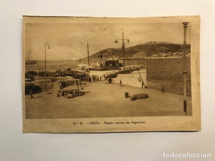 CEUTA. POSTAL NO.8, VAPOR CORREO DE ALGECIRAS . EDIC., M. ARRIBAS (H.1940?) S/C (Postales - España - Ceuta Moderna (desde 1940))