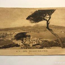 Postales: CEUTA. POSTAL NO.8, VISTA PARCIAL DESDE EL HACHO . EDIC., M. ARRIBAS (H.1940?) S/C. Lote 276753798