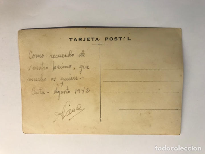 Postales: CEUTA. Postal Fotografíca, Parque de San Amaro..? Sin identificar editor (a.1942) dedicada.. - Foto 2 - 276814073