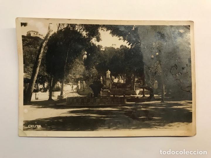 CEUTA. POSTAL FOTOGRAFÍCA, PARQUE DE SAN AMARO..? SIN IDENTIFICAR EDITOR (A.1942) DEDICADA.. (Postales - España - Ceuta Moderna (desde 1940))