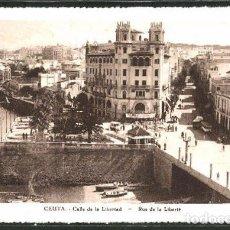 Postales: CEUTA - CALLE DE LA LIBERTAD. Lote 277581453