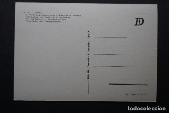 Postales: Ceuta, muelle de pescadores, antigua postal sin circular - Foto 2 - 278762653