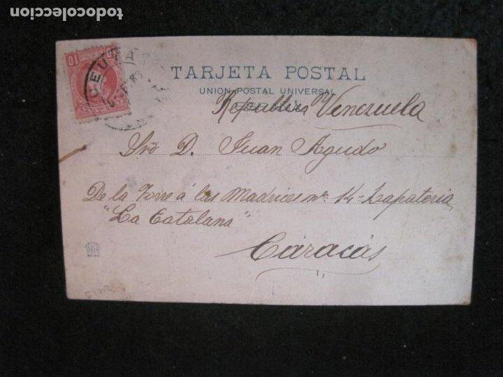 Postales: CEUTA-PASEO DE SAN AMARO-VIUDA DE J. MARTINEZ-REVERSO SIN DIVIDIR-POSTAL ANTIGUA-(83.027) - Foto 3 - 283689243