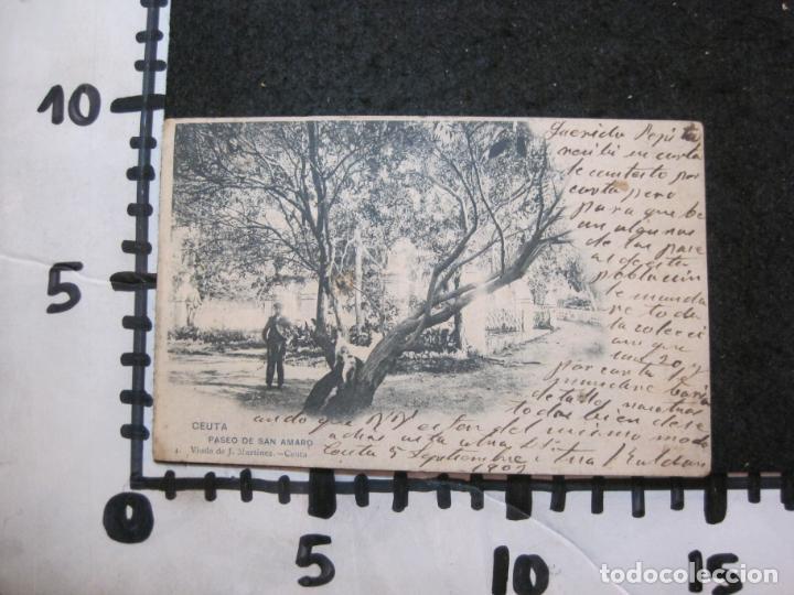 Postales: CEUTA-PASEO DE SAN AMARO-VIUDA DE J. MARTINEZ-REVERSO SIN DIVIDIR-POSTAL ANTIGUA-(83.027) - Foto 4 - 283689243