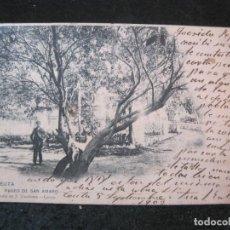 Postales: CEUTA-PASEO DE SAN AMARO-VIUDA DE J. MARTINEZ-REVERSO SIN DIVIDIR-POSTAL ANTIGUA-(83.027). Lote 283689243