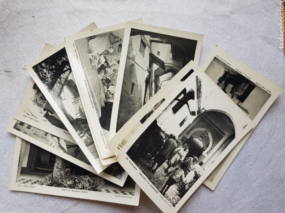 LOTE DE 10 POSTALES TETUAN ANIMADAS FOTO CALATAYUD (Postales - España - Ceuta Moderna (desde 1940))