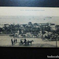 Postales: CEUTA JARDINES DE SAN SEBASTIAN Y PUERTO. Lote 287233013