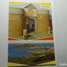 Postales: POSTAL CEUTA,-CUARTEL REGULARES Y VISTA. Lote 287793783
