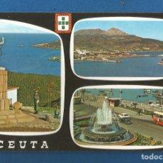 Postales: POSTAL SIN CIRCULAR CEUTA 58 BELLEZAS DE LA CIUDAD EDITA LUIS CABELLO GARCIA. Lote 288469503
