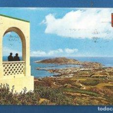 Postales: POSTAL CIRCULADA CEUTA 9 VISTA DESDE EL MIRADOR DE GARCIA ALDAVE EDITA LUIS CABELLO GARCIA. Lote 288469678