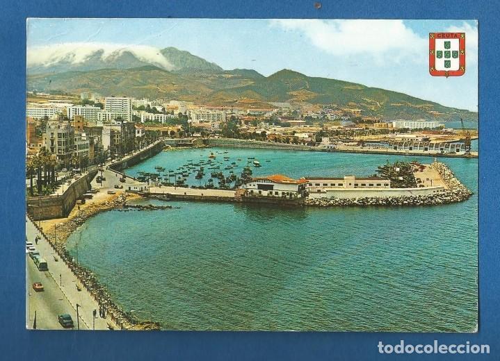 POSTAL CIRCULADA CEUTA 52 VISTA PARCIAL EDITA GARCIA GARRABELLA (Postales - España - Ceuta Moderna (desde 1940))