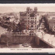 Postales: CEUTA - CALLE DE LA LIBERTAD. Lote 288541903