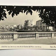 Postales: CEUTA. POSTAL NO.46, UNA HERMOSA VISTA DE LA CIUDAD DEL NORTE DE AFRICA. EDITA: FOTO RUBIO (A.1960). Lote 291562698