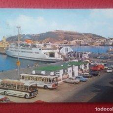 Postales: POSTAL POST CARD Nº 40 CEUTA TRANSBORDADOR Y MONTE HACHO AUTOBUSES COCHES DE ÉPOCA TRANSBORDEUR..VER. Lote 293398028