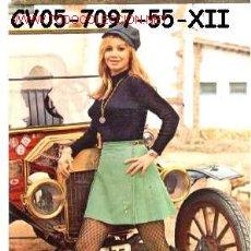 Postales: ANTIGUA POSTAL COCHE ANTIGUO Y CHICA (AÑOS 60) A ESTRENAR*. Lote 187331260