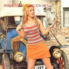 Postales: ANTIGUA POSTAL COCHE ANTIGUO Y CHICA (AÑOS 60) A ESTRENAR*. Lote 187331302