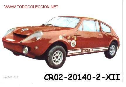ANTIGUA POSTAL COCHE ANTIGUO RALLY MARCOS 1000 (AÑOS 60)* (Postales - Postales Temáticas - Coches y Automóviles)
