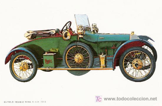 POSTALES C. Y Z. COMPLETAMENTE NUEVAS DE COCHES ANTIGUOS 1854-1914 - ENFIELD NIMBLE NINE 9 DE 1913 (Postales - Postales Temáticas - Coches y Automóviles)