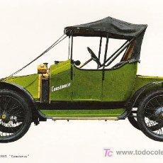 Postales: POSTALES C. Y Z. COMPETAMENTE NUEVAS DE COCHES ANTIGUOS 1854-1914 - CLEMENT BAYARD CONSTANCE DE 1914. Lote 4290506