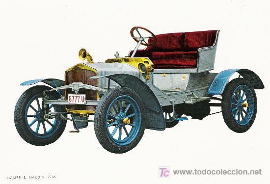 POSTALES C. Y Z. COMPLETAMENTE NUEVAS DE COCHES ANTIGUOS 1854-1914 - SIZAIRE & NAUDIN DE 1906 (Postales - Postales Temáticas - Coches y Automóviles)