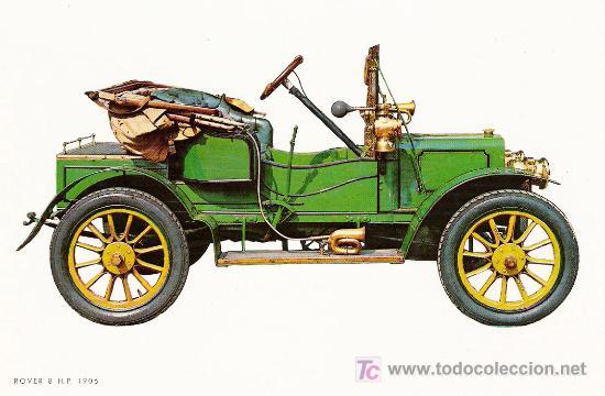 POSTALES C. Y Z. COMPLETAMENTE NUEVAS DE COCHES ANTIGUOS 1854-1914 - ROVER 8 DE 1906 (Postales - Postales Temáticas - Coches y Automóviles)