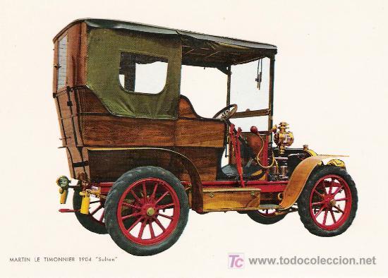 POSTALES C. Y Z. NUEVAS DE COCHES ANTIGUOS 1854-1914 - MARTIN LE TIMONNIER SULTAN DE 1904 (Postales - Postales Temáticas - Coches y Automóviles)