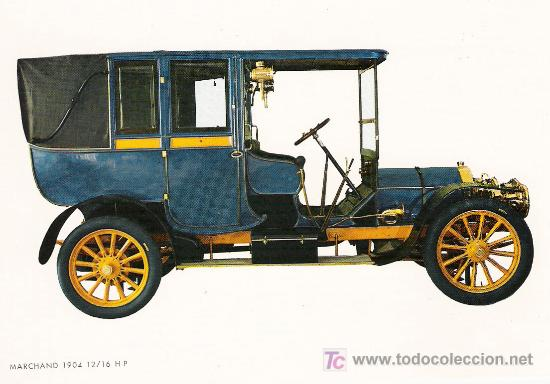 POSTALES C. Y Z. COMPLETAMENTE NUEVAS DE COCHES ANTIGUOS 1854-1914 - MARCHAND 12-16 DE 1904 (Postales - Postales Temáticas - Coches y Automóviles)