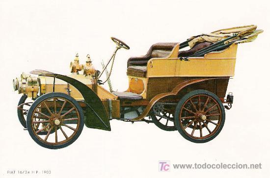 POSTALES C. Y Z. COMPLETAMENTE NUEVAS DE COCHES ANTIGUOS 1854-1914 - FIAT 16-24 DE 1903 (Postales - Postales Temáticas - Coches y Automóviles)