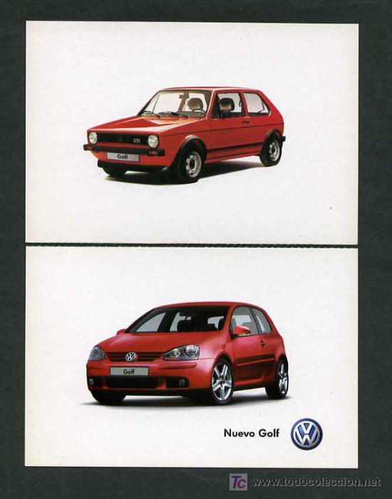 *VOLKSWAGEN GTI 1974-2004* LOTE 5 DIFERENTES. NUEVAS. (Postales - Postales Temáticas - Coches y Automóviles)