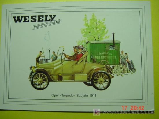 1320 CAR COCHE COCHES AUTO OPEL TORPEDO 1911 MAS POSTALES DE ESTE TEMA EN COSAS&CURIOSAS (Postales - Postales Temáticas - Coches y Automóviles)