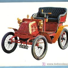 Postales: COCHE ANTIGUO. GEORGES RICHARD 3,5 HP 1 CILINDRO(1900) . 21 X 15,5 CM. Lote 10530466