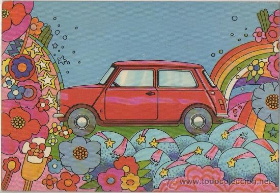 TARJETA POSTAL PUBLICITARIA DEL NUEVO MINI AÑO 1973 COCHE AUTOMOVIL (Postales - Postales Temáticas - Coches y Automóviles)