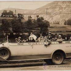 Postales: POSTAL COCHE ANTIGUO FOTOGRAFICA, GARAGE D. DELIN, LOURDES. Lote 10727538