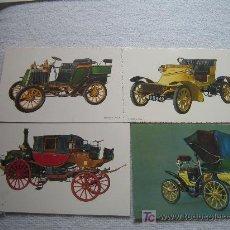 Postales: LOTE DE 4 POSTALES DE COCHES DE EPOCA - COMO NUEVAS. Lote 11965855
