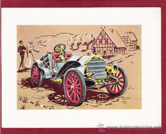 PRECIOSA LÁMINA DOBLE COCHES ANTIGUOS - EMF 1907 - VR SERIE 1000 (Postales - Postales Temáticas - Coches y Automóviles)