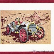 Postales: PRECIOSA LÁMINA DOBLE COCHES ANTIGUOS - EMF 1907 - VR SERIE 1000 . Lote 12907610