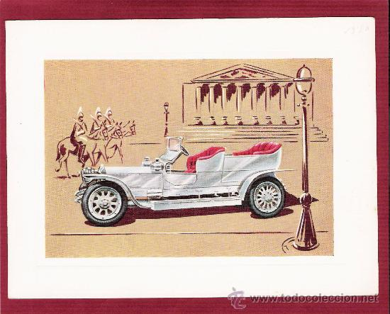 PRECIOSA LÁMINA DOBLE COCHES ANTIGUOS - ROLLS-ROYCE SILVERGHOST 1907 - VR SERIE 1000 (Postales - Postales Temáticas - Coches y Automóviles)