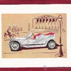 Postales: PRECIOSA LÁMINA DOBLE COCHES ANTIGUOS - ROLLS-ROYCE SILVERGHOST 1907 - VR SERIE 1000 . Lote 12907640