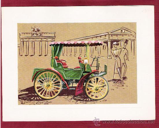 PRECIOSA LÁMINA DOBLE COCHES ANTIGUOS - BENZ 1894 - VR SERIE 1000 (Postales - Postales Temáticas - Coches y Automóviles)