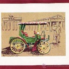 Postales: PRECIOSA LÁMINA DOBLE COCHES ANTIGUOS - BENZ 1894 - VR SERIE 1000 . Lote 12907692