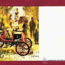 Postales: MAGNÍFICA TARJETA ILUSTRADA POR DBLADE - COCHES ANTIGUOS CON DETALLES DORADOS - FISA . Lote 13022950