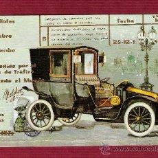 Postales: MAGNÍFICO DÍPTICO AÑOS 70 - COCHES ANTIGUOS - ILUSTRADO POR LUTTER - SIMULANDO CARNET DE CONDUCIR - . Lote 13126281