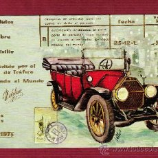 Postales: MAGNÍFICO DÍPTICO AÑOS 70 - COCHES ANTIGUOS - ILUSTRADO POR LUTTER - SIMULANDO CARNET DE CONDUCIR - . Lote 13126291