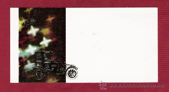 MAGNÍFICA TARJETA AÑOS 70 - COCHES ANTIGUOS - DETALLES DORADOS - SUBI Z-9141-2 (Postales - Postales Temáticas - Coches y Automóviles)