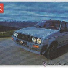 Postales: TARJETA POSTAL DE CITRÖEN VISA GTI COLECCIÓN 1985 COCHE AUTOMOVIL. Lote 14095889