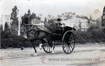 POSTAL FOTOGRAFICA COCHE DE CABALLOS (Postales - Postales Temáticas - Coches y Automóviles)