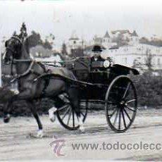 Postales: POSTAL FOTOGRAFICA COCHE DE CABALLOS . Lote 16080722